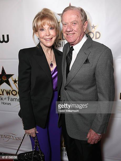 Actress Barbara Eden and architecht Jon Eicholtz attend the Hollywood Walk of Fame Honors at Taglyan Complex on October 25 2016 in Los Angeles...