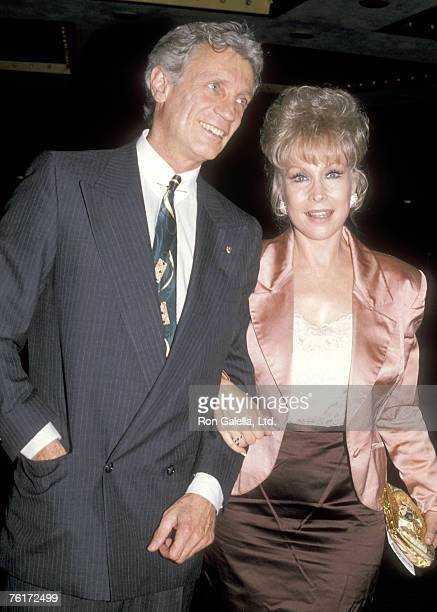 Actress Barbara Eden and boyfriend Doctor Stanley Frileck attend the Party for Debby Boone's and Gabriel Ferrer's New Book 'Bedtime Hugs for Little...
