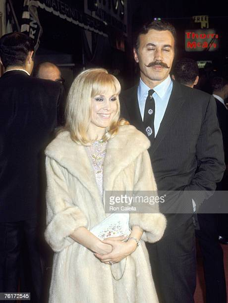 Actress Barbara Eden and husband Actor Michael Ansara attend the '2001 A Space Odyssey' Hollywood Premiere on April 4 1968 at Hollywood Warner...