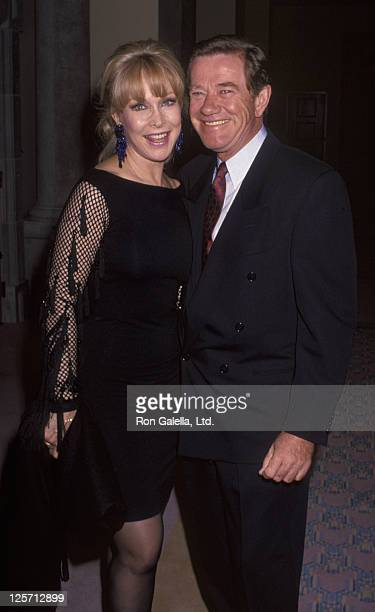 Actress Barbara Eden and husband John Eicholtz attend Mission Hills Celebrity Sports Invitational on November 29 1991 at Rancho Mirage in Los Angeles...
