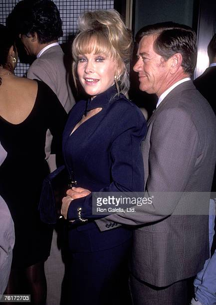 Actress Barbara Eden and husband Jon Eicholtz attend the Beverly Hills Premiere of A Few Good Men on April 7 1992 at Wilshire Theatre in Beverly Hills