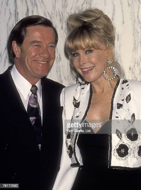 Actress Barbara Eden and husband Jon Eicholtz attend the Buddy Ebsen's 84th Birthday Celebration Hosted by the American Cinema Awards Foundation on...