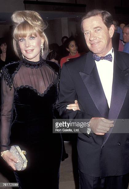 Actress Barbara Eden and husband Jon Eicholtz attend the Eighth Annual Soap Opera Digest Awards on January 10 1992 at Beverly Hilton Hotel in Beverly...
