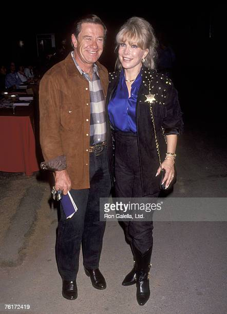 Actress Barbara Eden and husband Jon Eicholtz attend the Junior League of Los Angeles' 'Under Western Stars' Fundraiser on October 17 1992 at The...