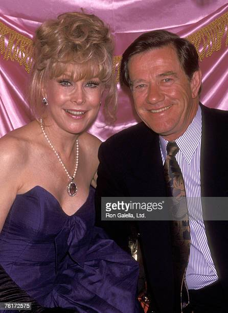 Actress Barbara Eden and husband Jon Eicholtz attend the Limelight Club's Fun Campy 'Nightlife Award' Honoring Barbara Eden on April 22 1992 at...