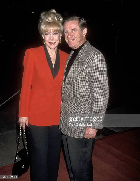 Actress Barbara Eden and husband Jon Eicholtz attend the Opening Night of the Radio City Christmas Spectacular on December 11 1998 at Universal...