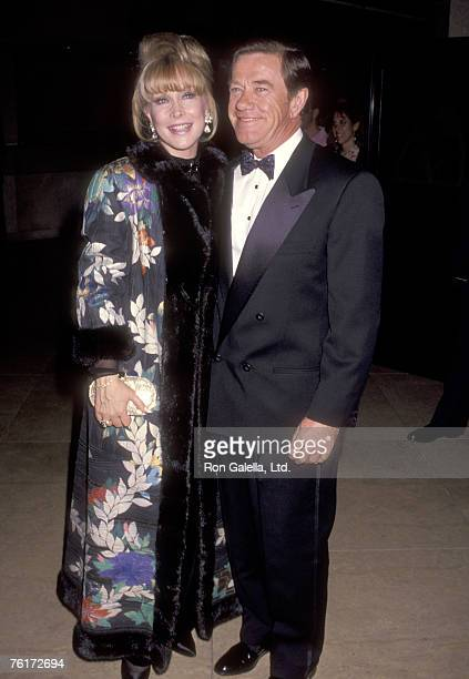Actress Barbara Eden and husband Jon Eicholtz attend the Second Annual Fire and Ice Ball on December 4 1991 at Beverly Hilton Hotel in Beverly Hills...