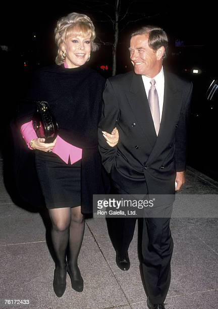 Actress Barbara Eden and husband Jon Eicholtz on October 27 1993 walking on Fifth Avenue in New York City New York