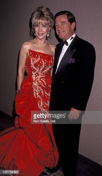 Actress Barbara Eden and John Eicholtz attend 37th Annual Thalians Ball on October 31 1992 at the Century Plaza Hotel in Century City California