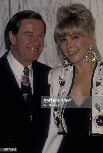 Actress Barbara Eden and John Eicholtz attend Gala Honoring Buddy Ebsen on March 20 1992 at the Beverly Wilshire Hotel in Beverly Hills California