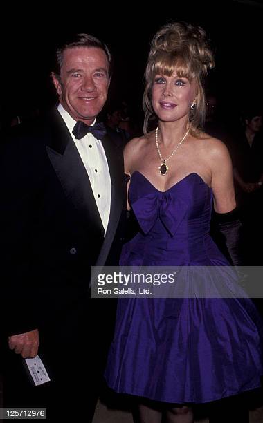 Actress Barbara Eden and John Eicholtz attend Juvenille Diabetes Association Benefit Gala on October 4 1991 at the Beverly Hilton Hotel in Beverly...