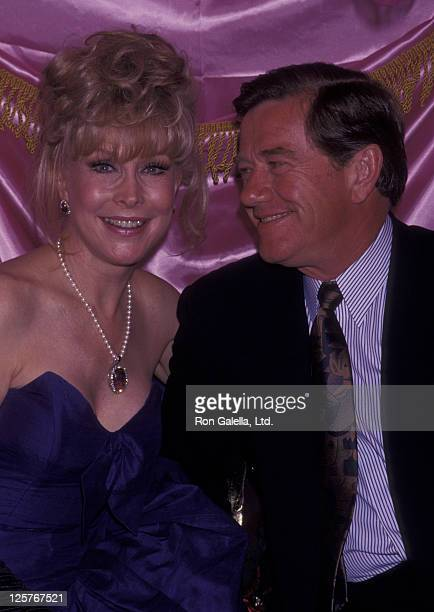 Actress Barbara Eden and John Eicholtz attend Nightlife Awards on April 22 1992 at Limelight Club in New York City