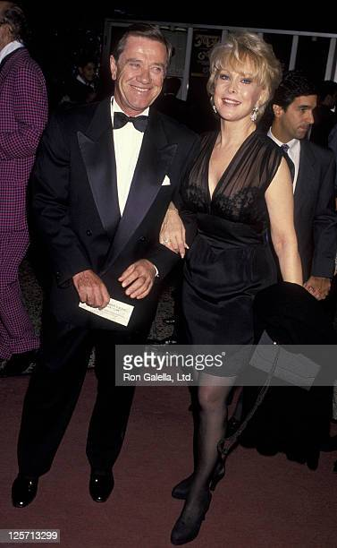 Actress Barbara Eden and John Eicholtz attend the opening of Guys and Dolls on November 11 1993 at the Pantages Theater in Hollywood California