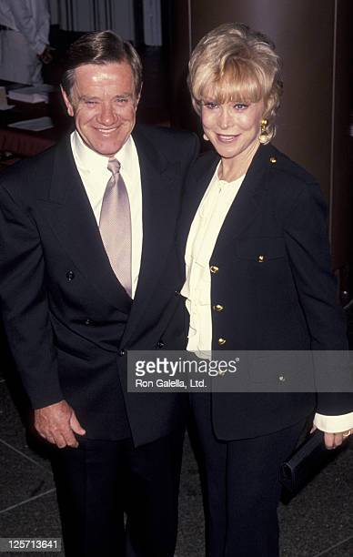 Actress Barbara Eden and John Eicholtz attend Writer's Guild of America Gala Honoring Robert Blake on October 24 1993 at the Director's Guild Theater...