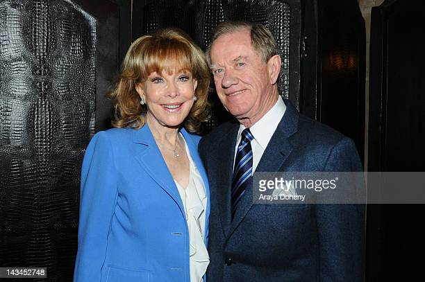 Actress Barbara Eden and Jon Eicholtz attend the Hollywood Chamber of Commerce event honoring Actress Barbara Eden with the Lifetime Achievement...