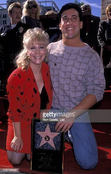 Actress Barbara Eden and Matthew Ansara attend Barbara Eden Hollywood Walk of Fame Star Ceremony on November 17 1988 in Hollywood California