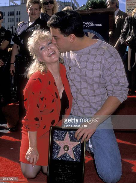 Actress Barbara Eden and son Matthew Ansara attend the Hollywood Walk of Fame Ceremony Honoring Barbara Eden with a Star on November 17 1988 at 7003...