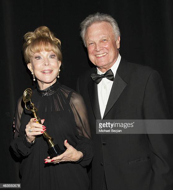 Actress Barbara Eden and Tommy Roe backstage at 1st Hollywood Beauty Awards Presented By LATF And Benefiting Children's Hospital Los Angeles at The...