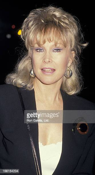 Actress Barbara Eden attends the book party for Fannie Flagg 'Fried Green Tomatoes at the Whislteshop Cafe' on November 10 1987 at Hunter's Books in...