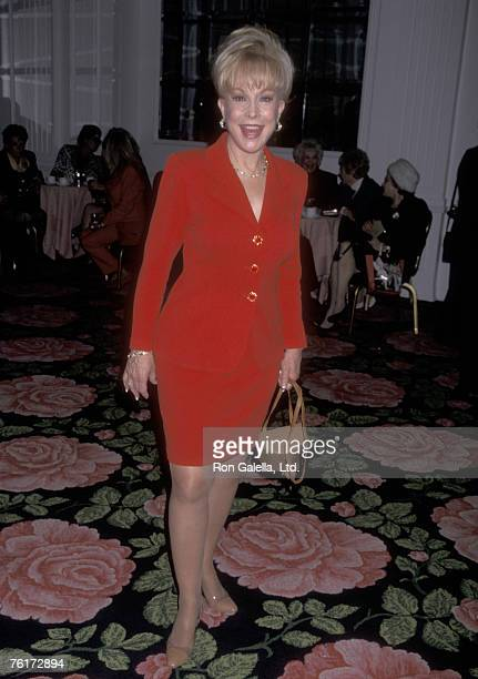 Actress Barbara Eden attends the Hollywood Women's Press Club's 57th Annual Golden Apple Awards on December 14 1997 at Beverly Hilton Hotel in...