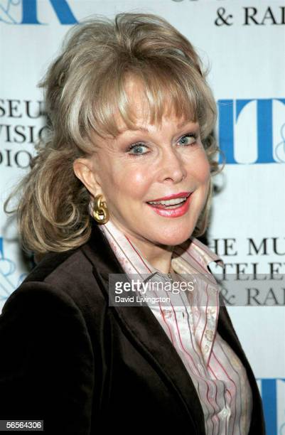 Actress Barbara Eden attends the John H. Mitchell Seminar with Sumner Redstone, Chairman of the Board and Chief Executive Officer of Viacom, at the...
