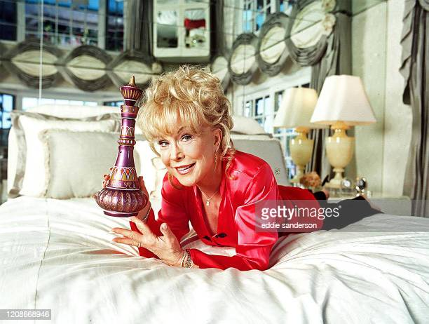 Actress Barbara Eden best known for her starring role of 'Jeannie' in the TV sitcom 'I Dream of Jeannie' photographed in her Deep Canyon, Los Angeles...
