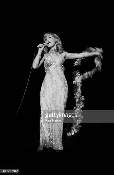 Actress Barbara Eden onstage at Poplar Creek Music Theater Hoffman Estates Illinois August 3 1980