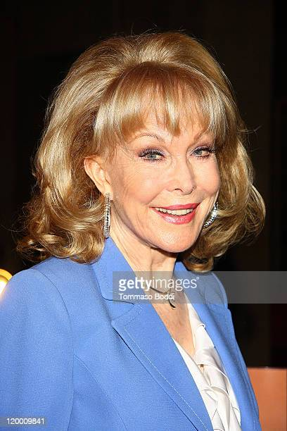 """Actress Barbara Eden signs copies of her book """"Jeannie Out Of The Bottle"""" at the Egyptian Theatre on July 28, 2011 in Hollywood, California."""