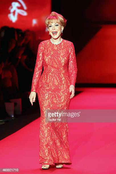 Actress Barbara Eden walks the runway during the Go Red For Women fall 2015 fashion show on February 12 2015 in New York City