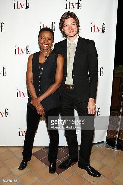 Actress Barbara Eve Harris and actor Rob Welsh arrive at the premiere of Sex Ed The Series held at Laemmle Sunset 5 Theatre on August 2 2009 in West...