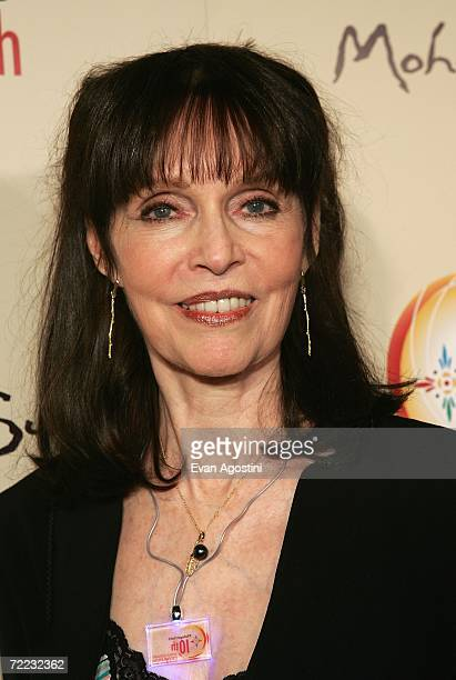 Actress Barbara Feldon poses at the Afterglow party during the Mohegan Sun 10th Anniversary celebration in the Cabaret Theatre at Mohegan Sun October...