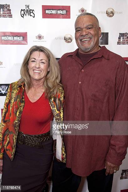 Actress Barbara Glover and Allyn Haynes attend Ronalds Brothers Productions And Mischief Maker Studios Presents Brian Pul at The Beverly Center on...