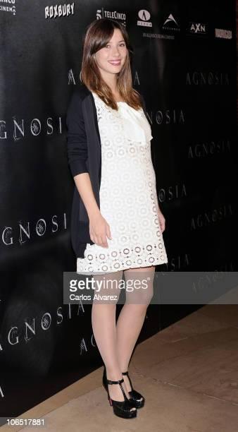 "Actress Barbara Goenaga attends ""Agnosia"" photocall at the Palafox cinema on November 4, 2010 in Madrid, Spain."
