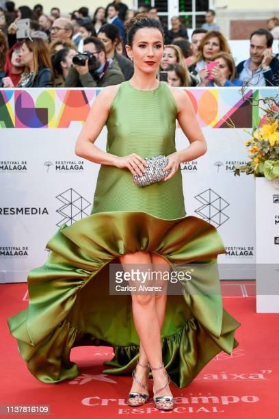Actress Barbara Goenaga attends the Malaga Film Festival 2019 closing day gala at Cervantes Theater on March 23 2019 in Malaga Spain
