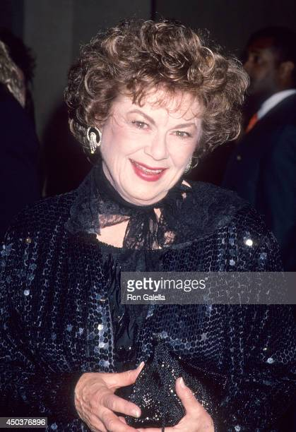 Actress Barbara Hale attends the 46th Annual Directors Guild of America Awards on March 5 1994 at the Beverly Hilton Hotel in Beverly Hills California