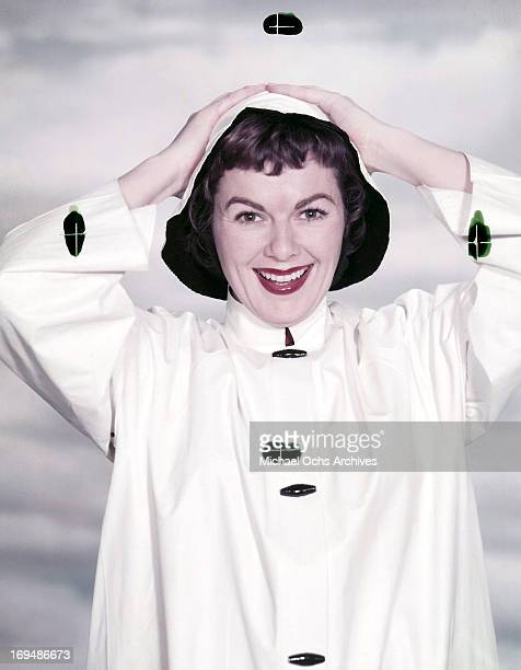 Actress Barbara Hale poses for a portrait in circa 1957