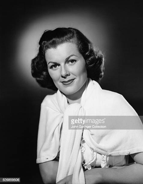 Actress Barbara Hale with Cardigan Around Shoulders