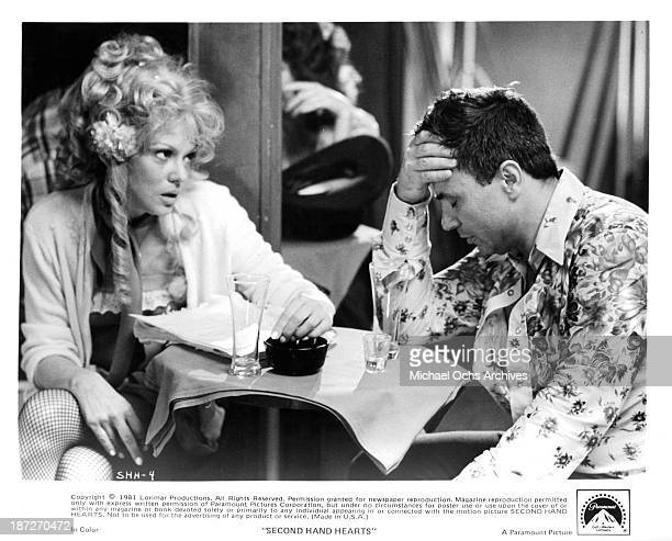 Actress Barbara Harris and actor Robert Blake on set of the Paramount Pictures movie SecondHand Hearts in 1981