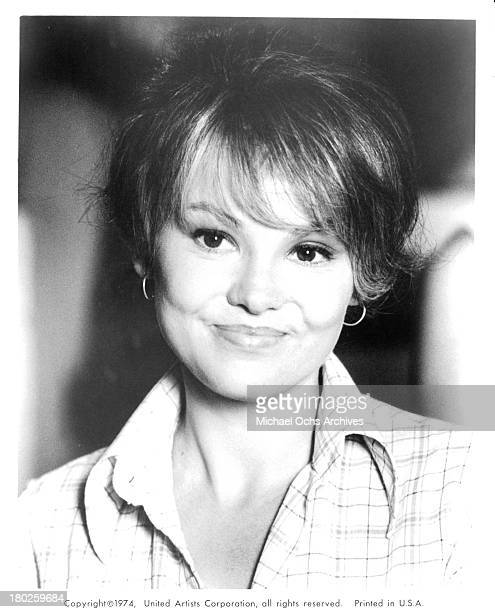 Actress Barbara Harris on set of the United Artist movie Mixed Company in 1974