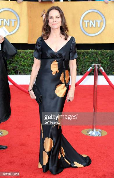 Actress Barbara Hershey arrives at the 17th Annual Screen Actors Guild Awards held at The Shrine Auditorium on January 30 2011 in Los Angeles...