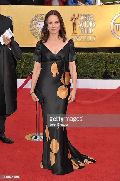 Actress Barbara Hershey arrives at the TNT/TBS broadcast of the 17th Annual Screen Actors Guild Awards held at The Shrine Auditorium on January 30...