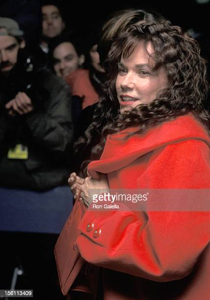 Actress Barbara Hershey attends the New York City Premiere 'The Portrait of a Lady' on December 7 1996 at United Artists 64th and 2nd Theatre in New...