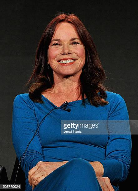 Actress Barbara Hershey attends the panel discussion for Damien during the AE Networks 2016 Television Critics Association Press Tour at The Langham...