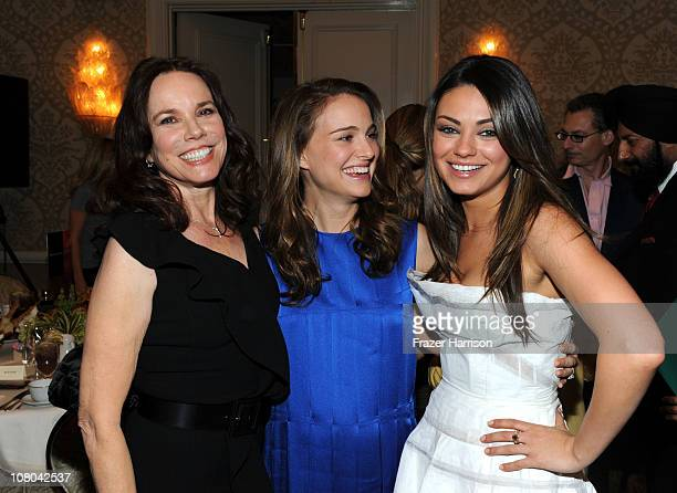 Actress Barbara Hershey Natalie Portman and Mila Kunis attend the Eleventh Annual AFI Awards reception at the Four Seasons Hotel on January 14 2011...