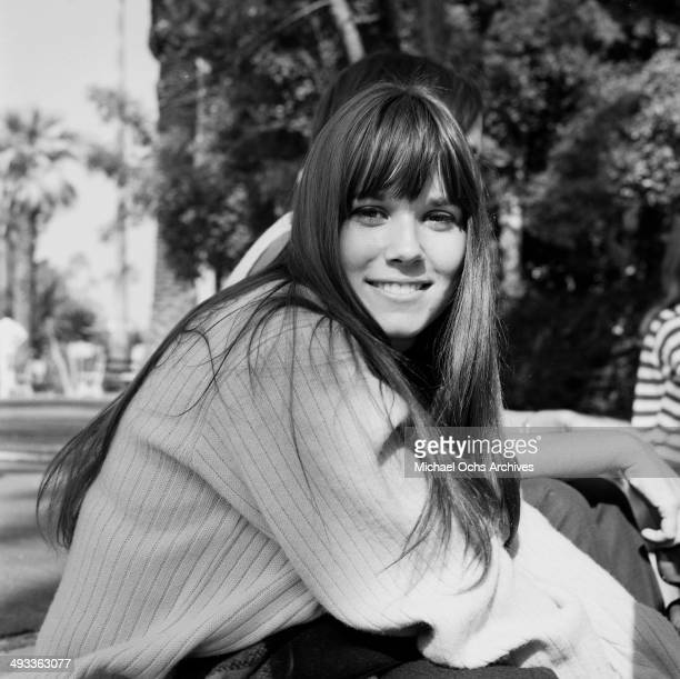 Actress Barbara Hershey poses in Los Angeles California
