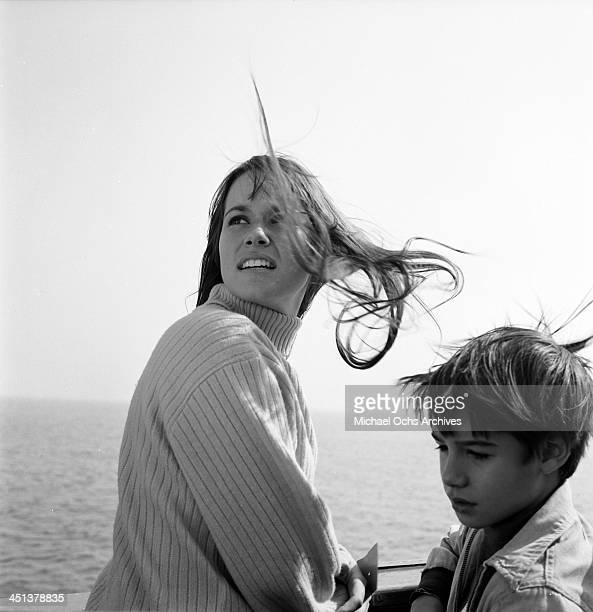 Actress Barbara Hershey poses on the pier in Los Angeles California