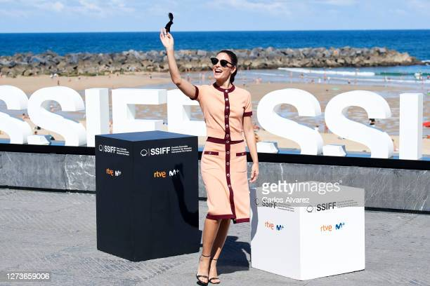 Actress Barbara Lennie attends 'Hermanas' photocall during the 68th San Sebastian International Film Festival at the Kursaal Palace on September 20,...
