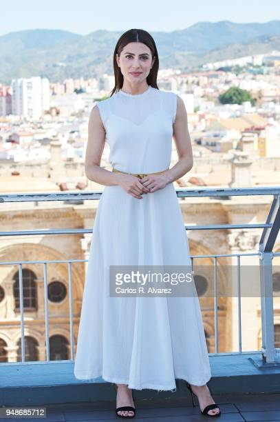 Actress Barbara Lennie receives the 'L'Oreal Belleza Comprometida' award during the 21th Malaga Film Festival at the AC Hotel on April 19 2018 in...
