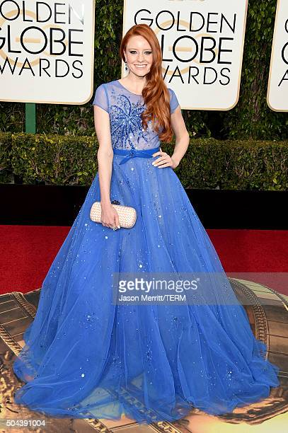 Actress Barbara Meier attends the 73rd Annual Golden Globe Awards held at the Beverly Hilton Hotel on January 10, 2016 in Beverly Hills, California.
