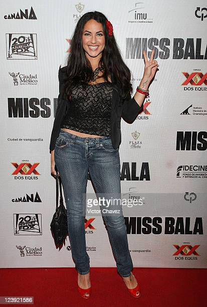 Actress Barbara Mori attends the 'Miss Bala' Mexico City premiere at Teatro de La Ciudad on September 5 2011 in Mexico City Mexico